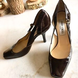 Jimmy Choo brown patent leather heels cut outs (7)